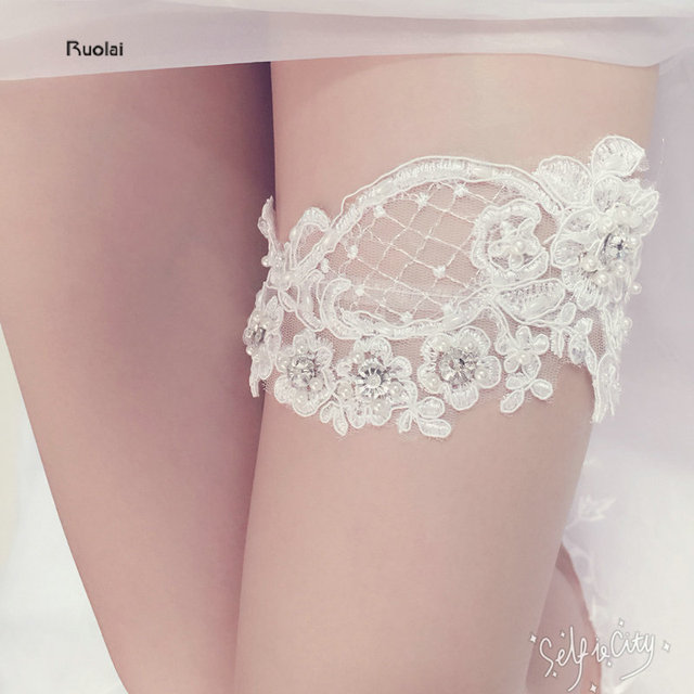 Wedding Leg Garter: Aliexpress.com : Buy Cheap Free Size Ivory Lace Wedding