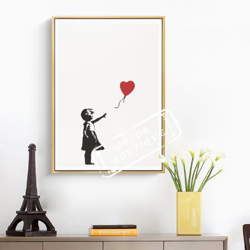 Girl with Balloon 2004 British Banksy Street Art Decorative Kraft Poster Canvas Painting Wall Sticker Home Decor Gift image