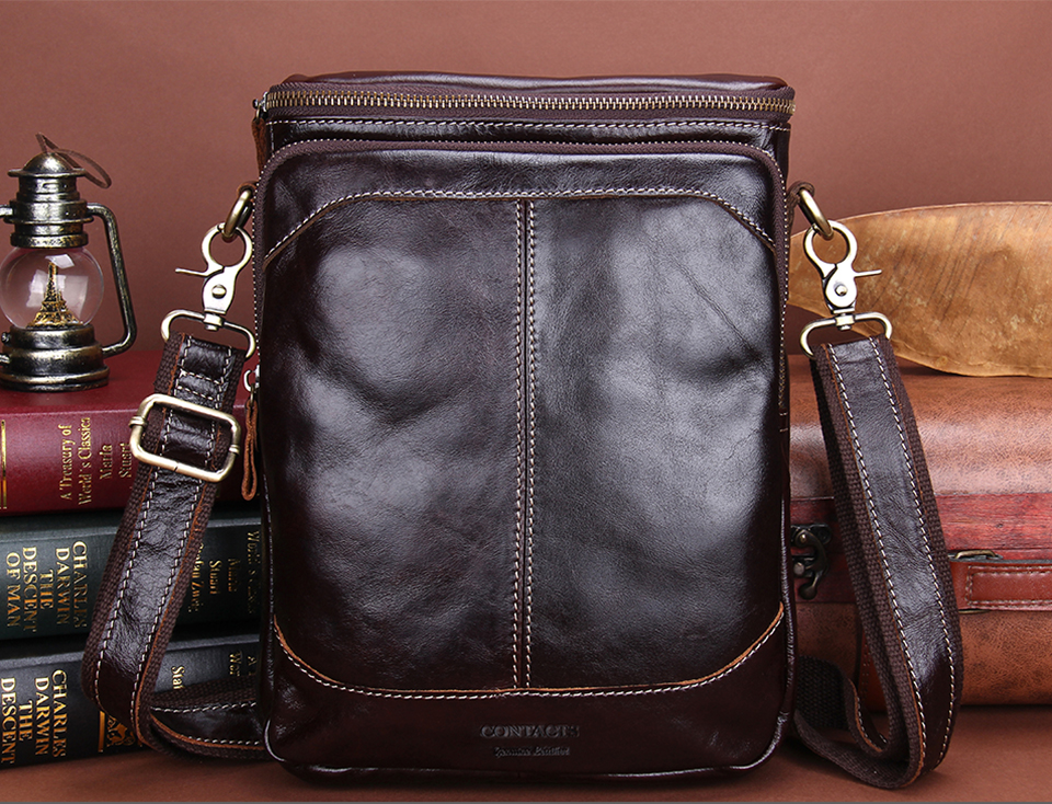 ab1fedf6ae Genuine Leather Men Bags Business Male Messenger Bag Luxury Designer ...