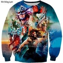Hot Movie Aquaman 3D Print Jackets Men/women Rock Streetwear Cool Hoodies Tracksuits Boy Hipster Blue Clothes Man Tops Harajuku