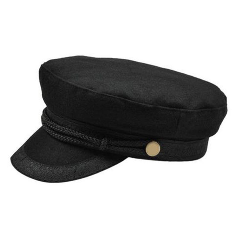 f25b56fe528 2018 Women Winter Fashion beret hat Female Military Hats Sailor Caps black Grey  Captain hat cap Casquette Militaire beret-in Berets from Apparel  Accessories ...