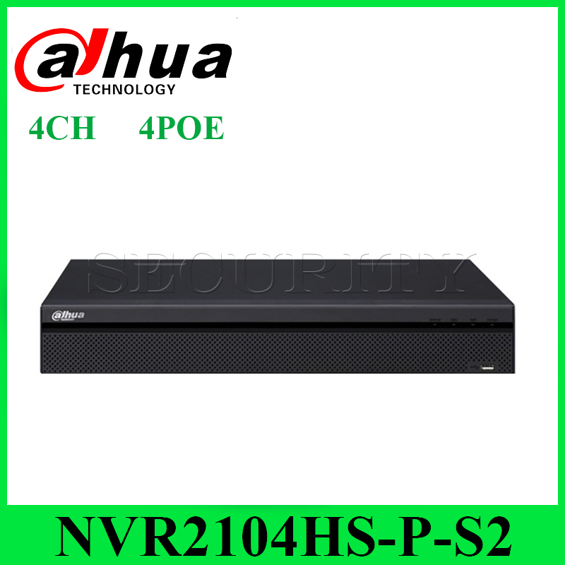 Dahua Original NVR2104HS-P-S2 Network Video Recorder Full HD 1080P 4CH POE Recorder With 1SATA 2USB InterfaceDahua Original NVR2104HS-P-S2 Network Video Recorder Full HD 1080P 4CH POE Recorder With 1SATA 2USB Interface