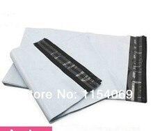 Free Shipping 20x34cm 100pcs/lot White Express Bag Poly Mailer Mailing Bag Envelope Self Adhesive Plastic Bag Mailers