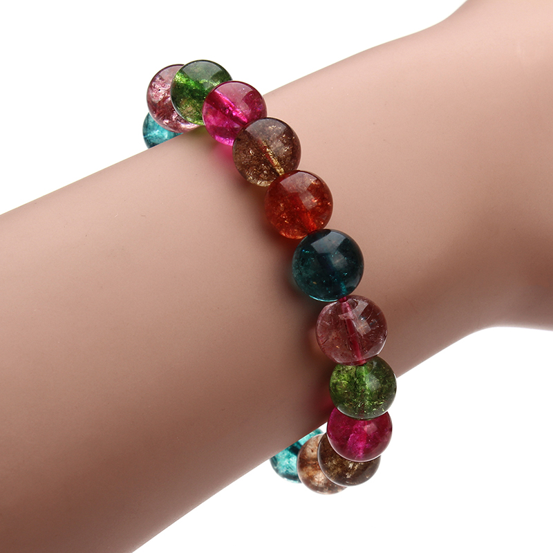 2016 Hot Sale Women Bracelet Multi-color Crystal Bead Tourmaline Charm Brecelets for Women Original DIY Jewelry Making F3039