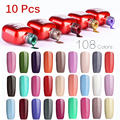 10Pcs/lot SIOUX 6ml UV Gel Nail Polish LED Lamp Long lasting Soak Off Cheap Gelpolish Vernis Top Coat Glue 108 Color SI08
