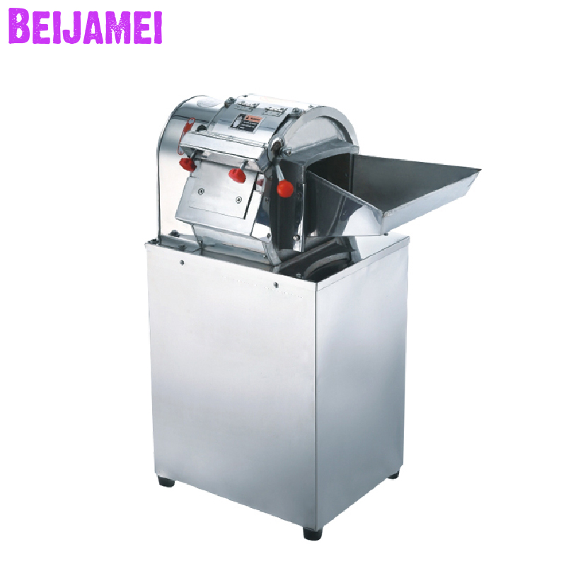 Beijamei 200KG/H Electric Vegetable Potato Cutter Machine Stainless Steel Commercial Potato Slicer French Fries Cutting