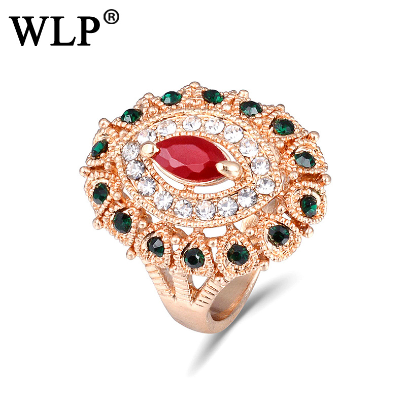 2018 WLP European And American Fashion Antique Accessories Jewelry Bohemian Ring of Luxury Ring Women Best Gift A2779