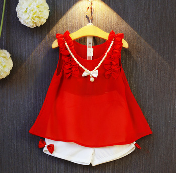 Girls Clothing Sets New 2017 Summer Girls Clothes Kids Tops + Fashion Casual Flower Skirts Suits Kids Clothes conjuntos casuales para niñas