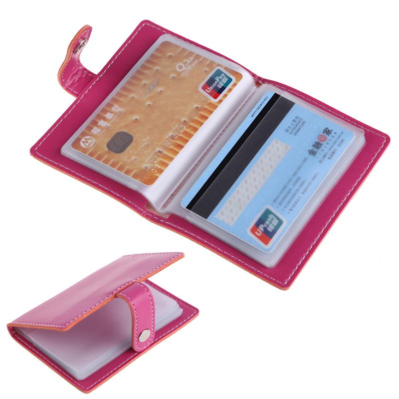 20 бит бизнес удостоверение держатель для кредитных карт/искусственная кожа пряжки раза для женщин держателей карт слоты бумажник карты бизнес посылка