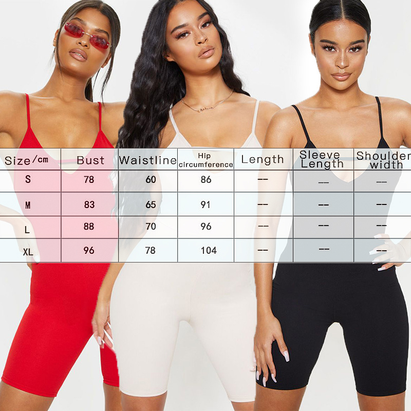 Sexy V neck Sling Jumpsuit Shorts For Summer Women Halter Waist Pocket Hip Bottom Shorts Clothes Sportswear Streetwear Playsuit in Rompers from Women 39 s Clothing