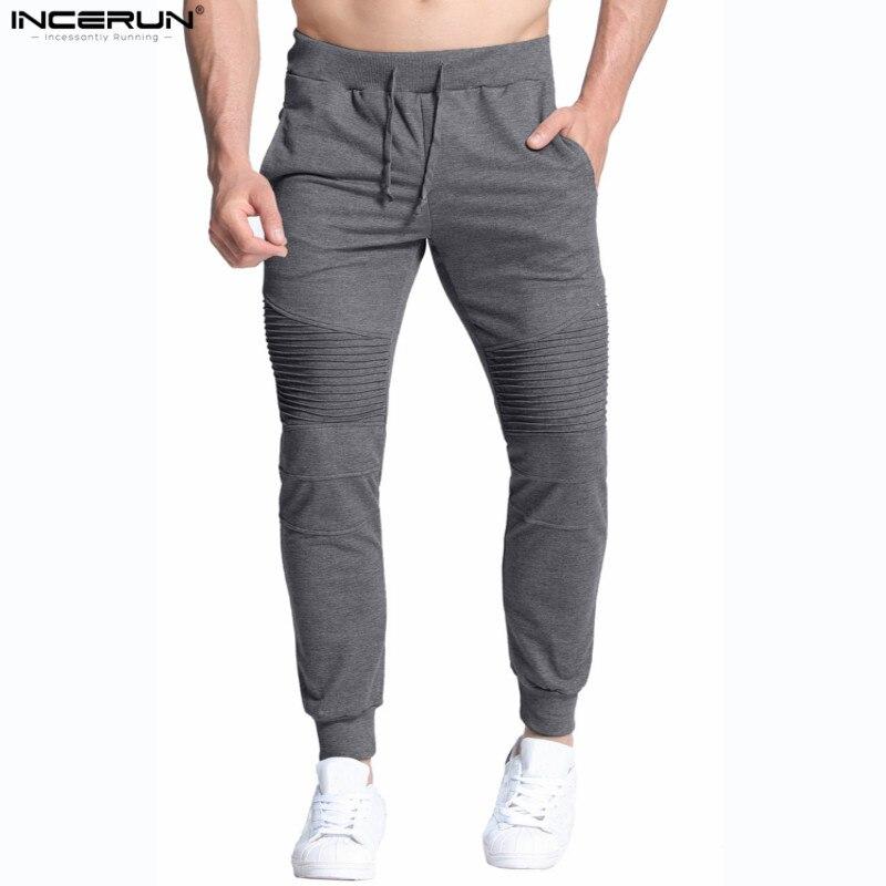 INCERUN Mens Joggers Pants Joggers Harem Sweatpants Men Trousers Fitness Workout Bodybuilding Clothing Male Pants 2019