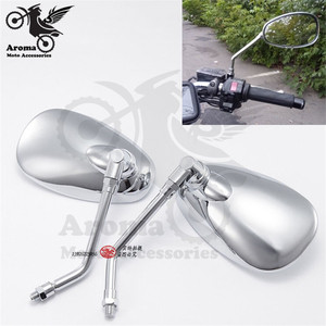 sliver chrome motorbike side mirrors for Harley yamaha vespa scooter accessorie side mirror motorcycle rearview mirror moto