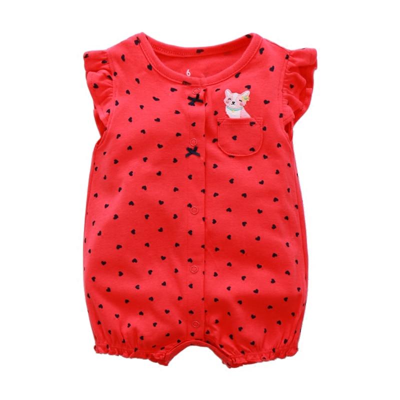 Cotton Baby Rompers Summer Baby Girl Clothes Cartoon Noworodek - Odzież dla niemowląt - Zdjęcie 2