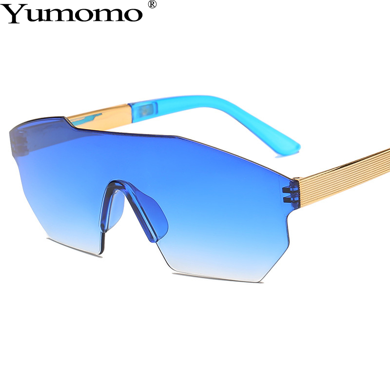 Fashion Oversized Square Sunglasses Women Stylish Vintage Metal Gradient Tinted Color Lens Framle Blue UV400 Shades De Sol Gafas in Women 39 s Sunglasses from Apparel Accessories