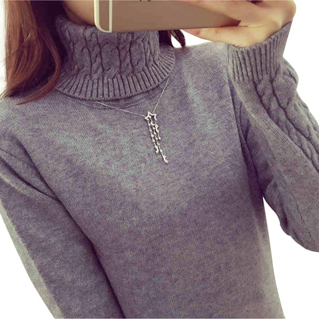 Women Sweaters And Pullovers Turtleneck Pullover Women Long Sleeve Sweter Mujer