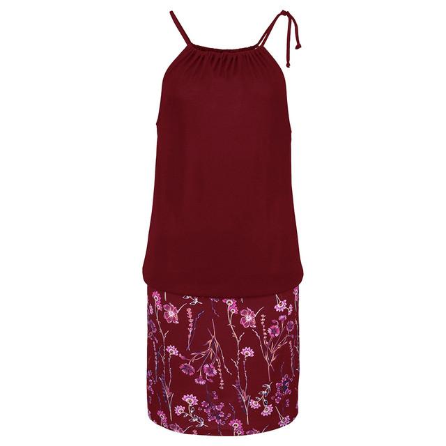 Womens Casual Sleeveless  Mini Dress