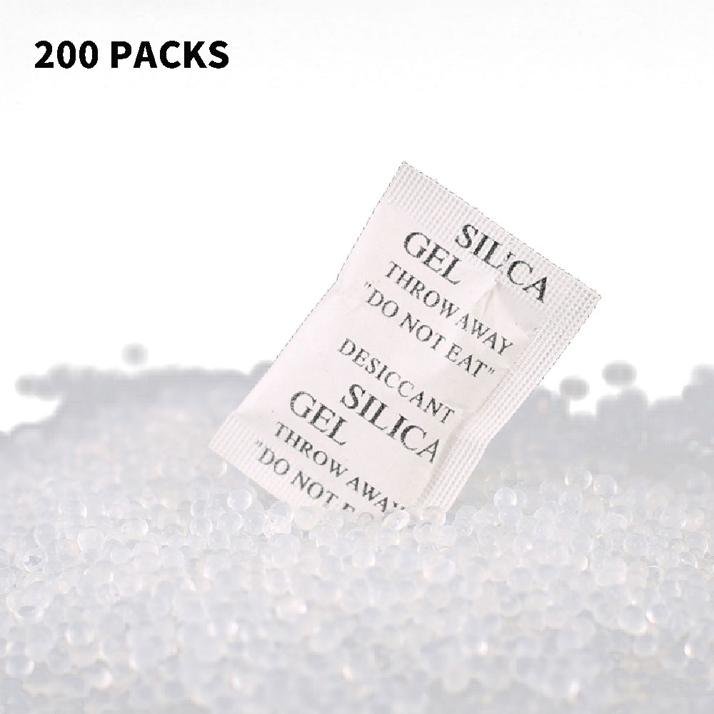 200 Packets Lot Silica Gel Sachets Desiccant Pouches Drypack Ship Drier