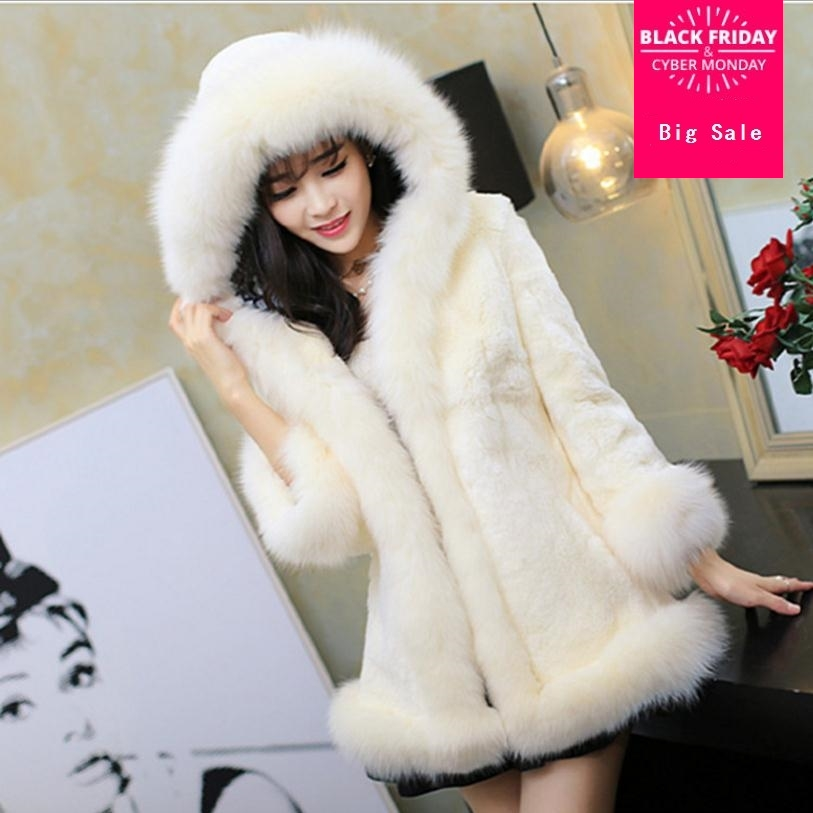 Reliable S-4xl Winter New Imitation Fox Fur Hooded Coat Middle East Luxury Womens Faux Fur Jacket Coat Women Dress Large Size Wj1232 Beneficial To Essential Medulla Jackets & Coats