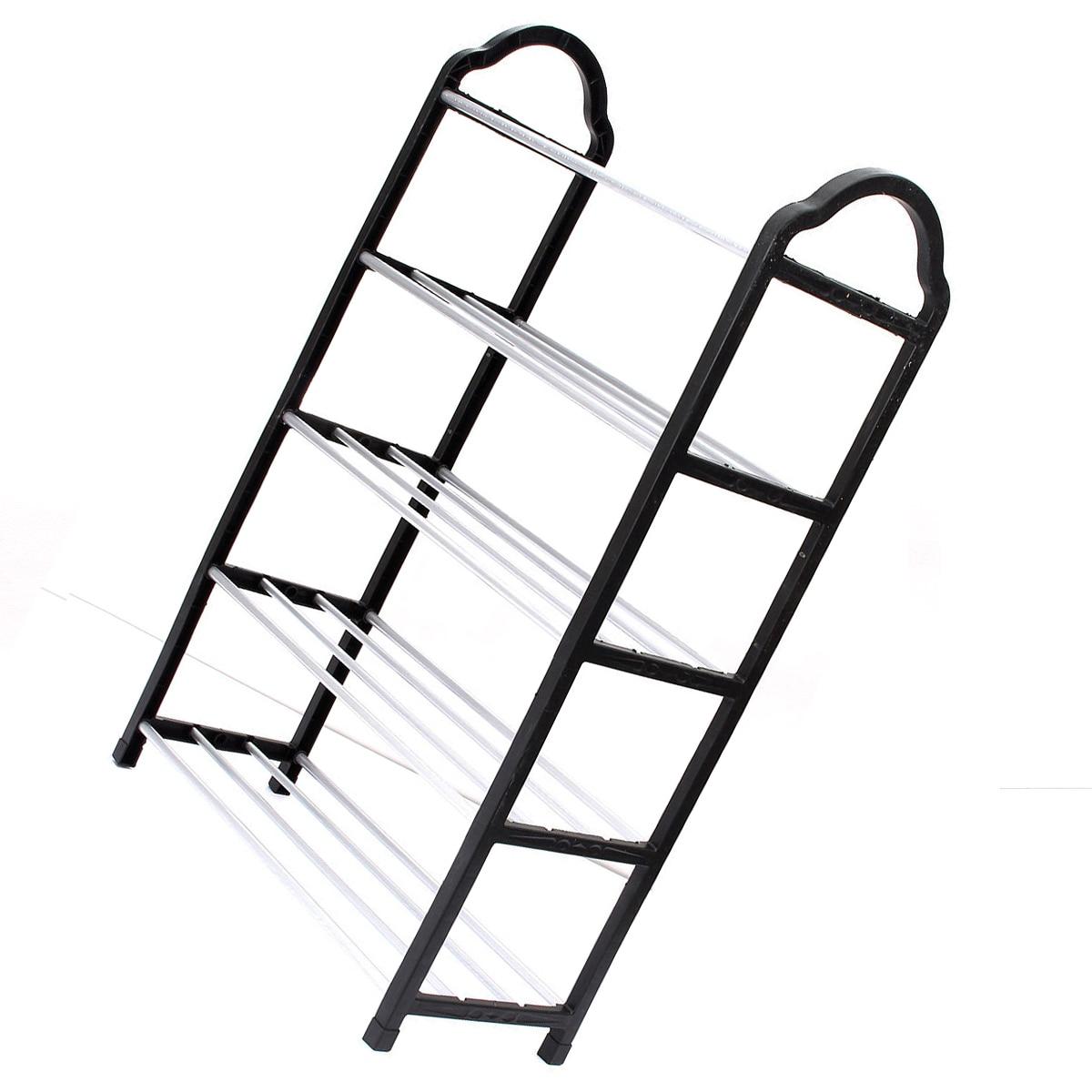 5 Tier Home Storage Organizer Cabinet Shelf Space Saving Shoe Tower Rack Stand Black
