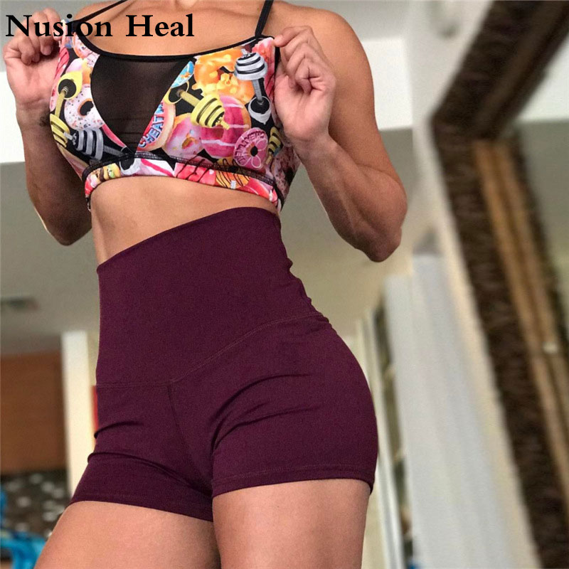 Women Sexy Yoga Shorts Compression Pantalon Corto Patchwork Running Short Gym Sport Shorts For Workout Athletic Fitness Leggings