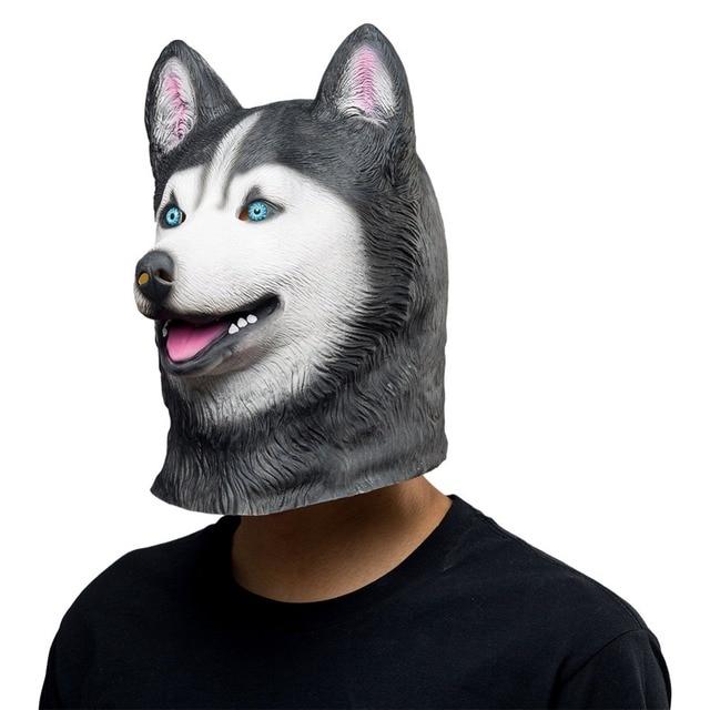 Halloween Animal Latex Masks Siberian Husky Dog Full Face Mask Adult  Cosplay Props Siberian Husky Dog 07901508b