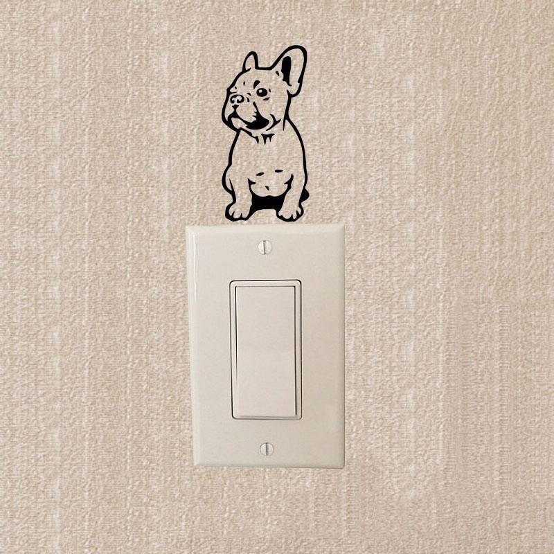 FRENCH BULLDOG Dog Cute Cartoon Animals Switch Stickers Body Decoration Decals 2SS0576