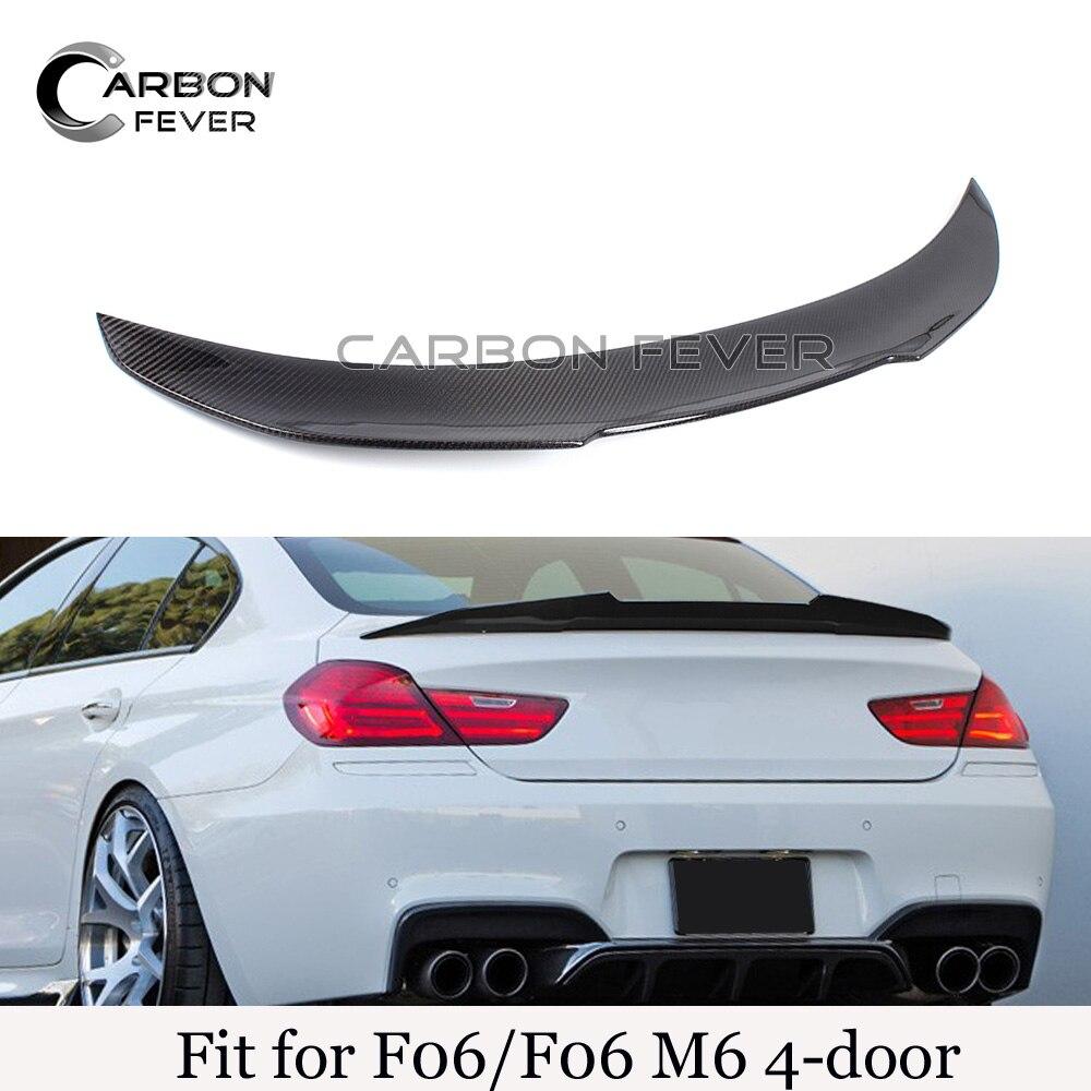Задний багажник загрузки спойлер Крылья для BMW 6 серии F06 M6 4 двери 640i 650i M6 Реальные углеродного волокна Магистральные спойлеры крышкой