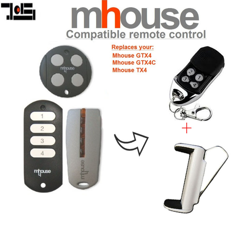 For MHouse GTX4, GTX4C,TX4  Replacement Remote Control