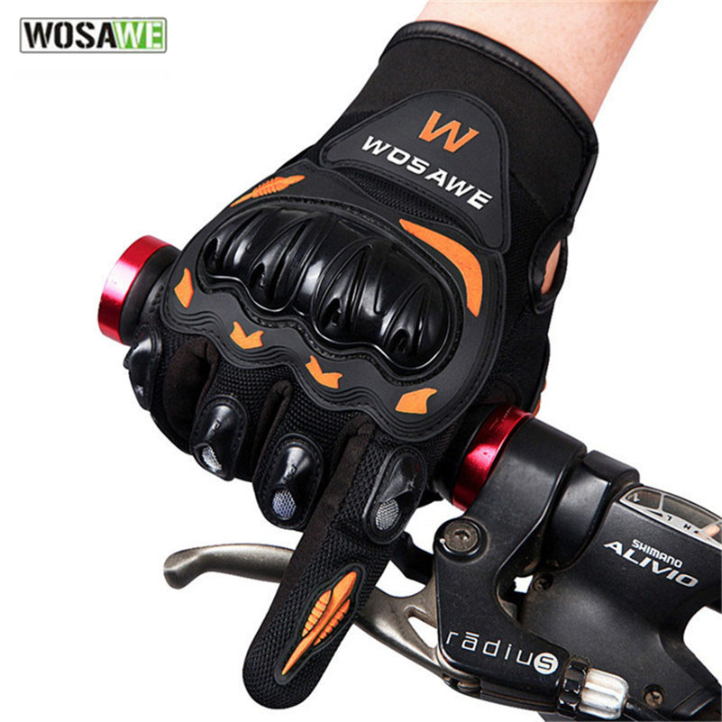 WOSAWE Bicycle Gloves Motorcycle Protective Gear Tactical Long Finger Cross Country Drop Resistance Bike Cycling Bicycle Gloves