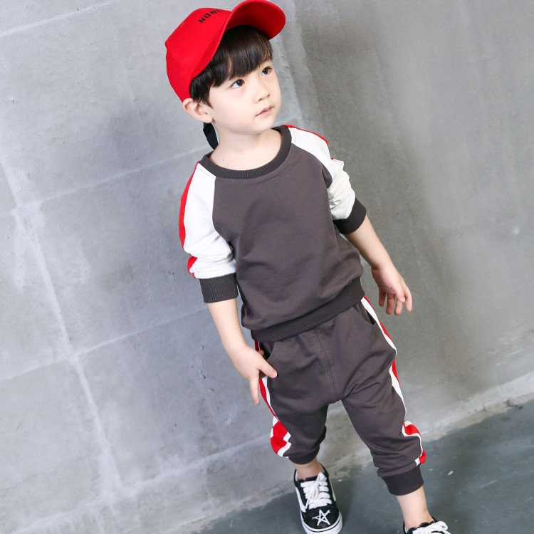 spring autumn new fashion 2-8 years old baby sets boys patchwork clothing girls tops + print pants two pieces sets baby sets girls clothes 2017 autumn spring new fashion brand children s clothing for 2 3 4 5 6 7 8 9 10 years old kids tops tee and pants