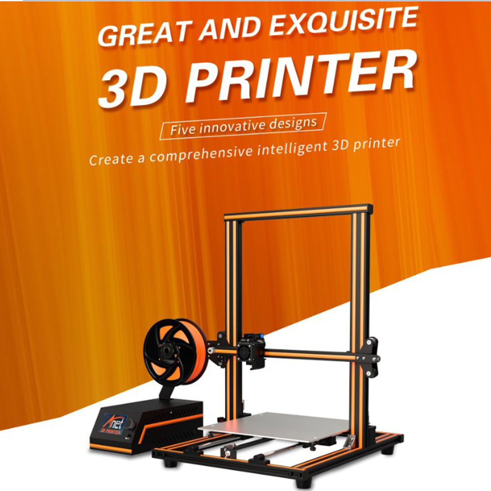"11.8"" x 11.8"" x 15.7"" Pro Printing Large Print Size Full Color DIY Assembled Nozzle Heat Bed 3D Printer DJA99(China)"