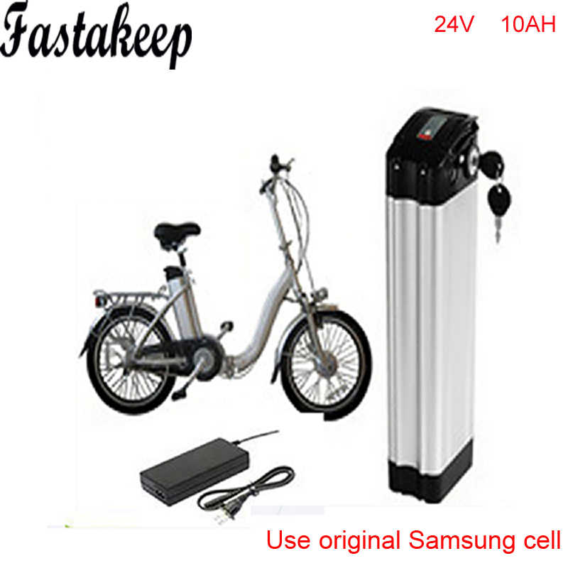 ebike 24v battery electric bike battery 24V 10Ah,for bafang/8fun 350w motor with Aluminium Case BMS Charger