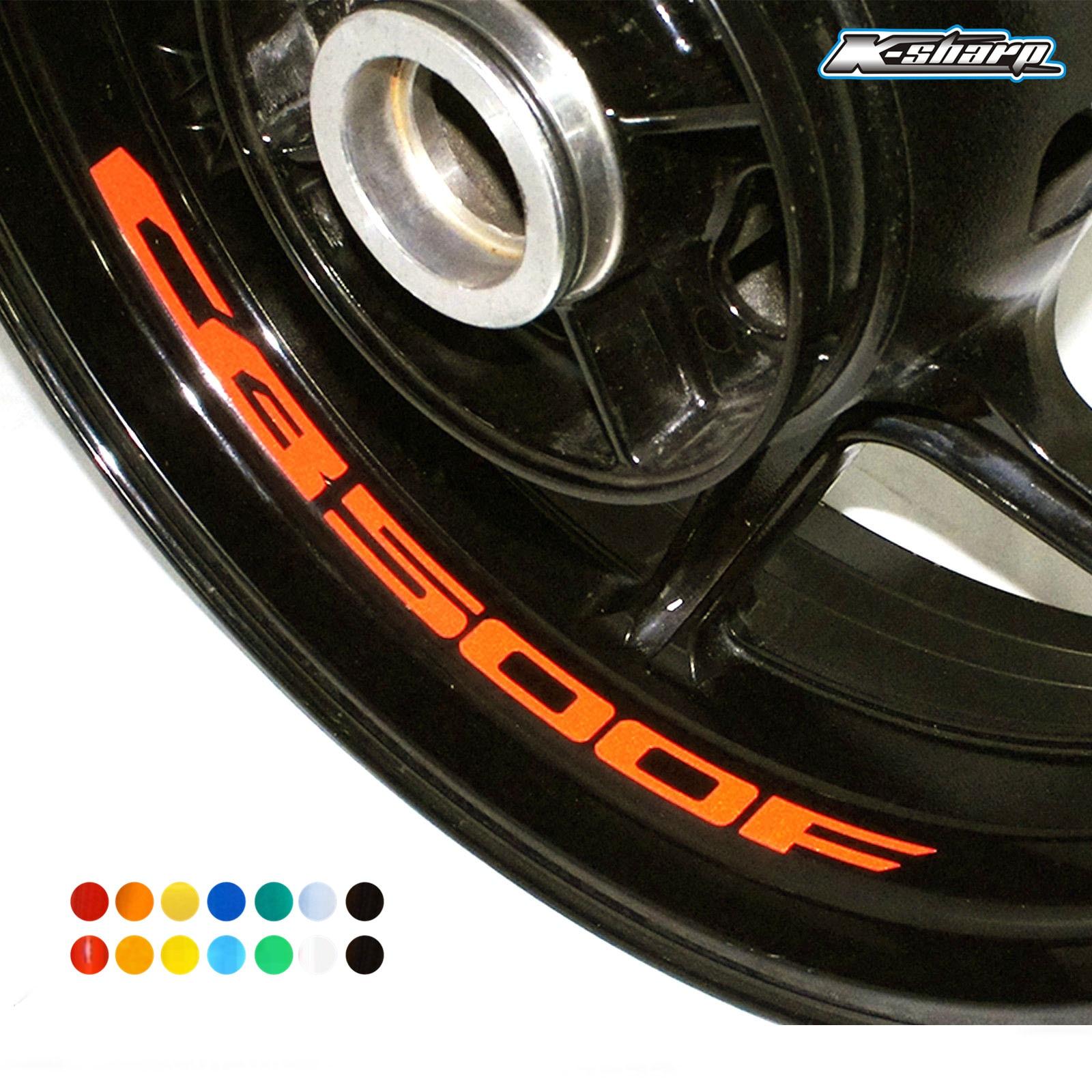 8 X Custon Inner Rim Decals Wheel Reflective Sign Stickers Stripes FIT HONDA CB500F