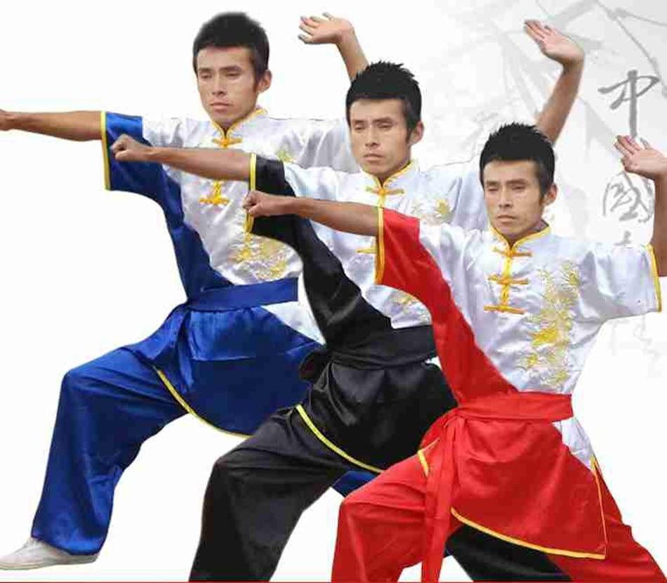 YZL15 Martial arts cloth tai chi clothing short-sleeve performance wear martial arts clothing cloth costume wushu suit free ship