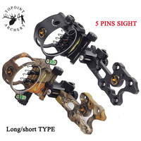 1pc Archery Micro Adjust Retina 5pin Sight 0.019 Optic Fiber Sight Pins Compound Bow Sight Shooting Aiming Hunting Accessories