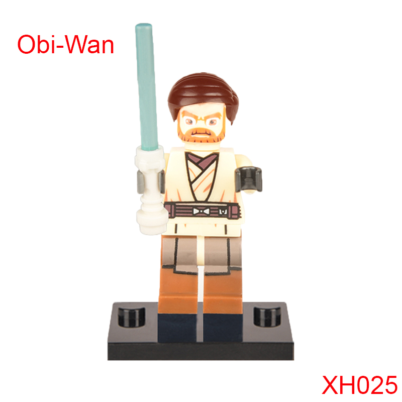 Obi-Wan Kenobi With Blue Lightsaber Building Block Star Wars Iii: The Clone Wars Super Heroes Bricks For Kids Xh025