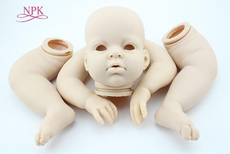 NPK free shipping hotsale reborn doll doll kit Arianna by Rev DIY blank kit soft silicone