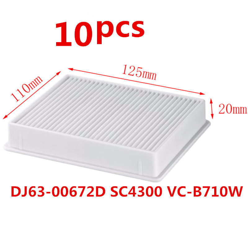 Vacuum Cleaner dust filter HEPA H11 DJ63-00672D Filter for Samsung SC4300 SC4470 White VC-B710W... cleaner accessories parts 1pc h11 dj63 00672d dust hepa filter 1 set blue sponge filters for samsung sc4300 sc4470 vc b710w vacuum cleaner spare parts kit