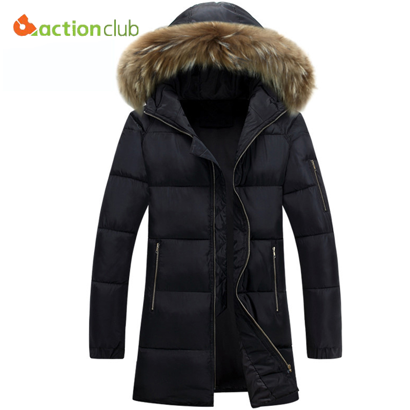 Popular Mens Fur Hooded Parka Jacket-Buy Cheap Mens Fur Hooded ...