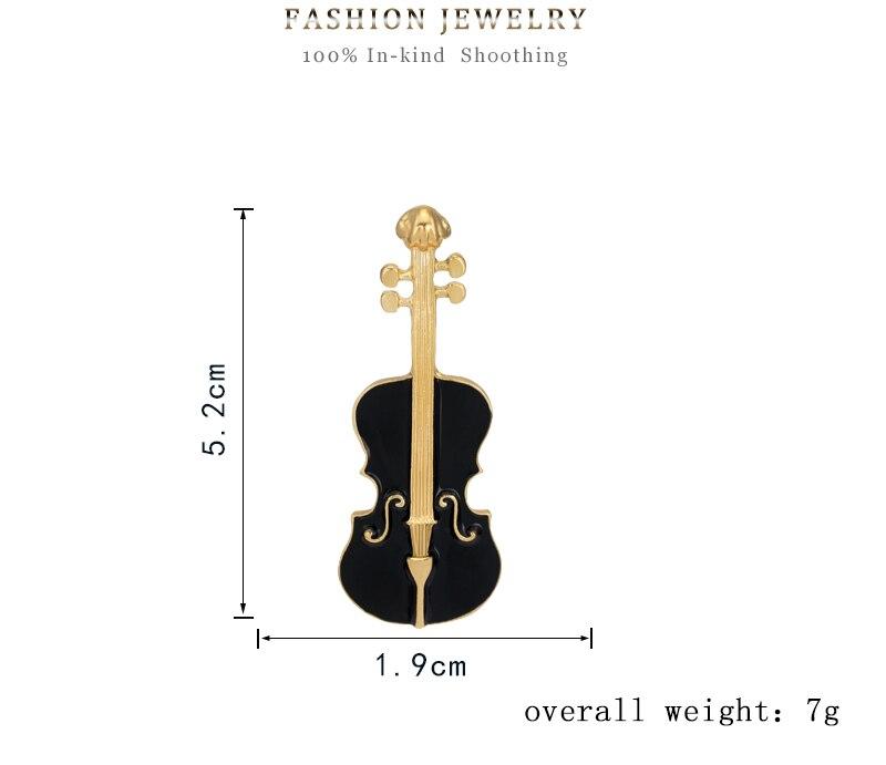 Aliexpress Buy Enamel Vintage Alloy Drip Brooch Violin Music