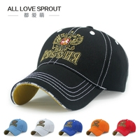 2015 Baseball Cap High Quality Adjustable Russia Hat Baseball Cap Adults Men Outdoor Visor Casual Hat