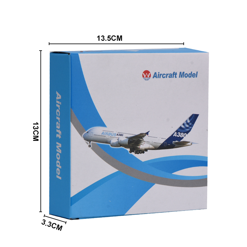 WR British Airways A380 Aircraft Model Ornamentation Toy UK Mini Airplane Model Home Decoration For Childrens Gifts