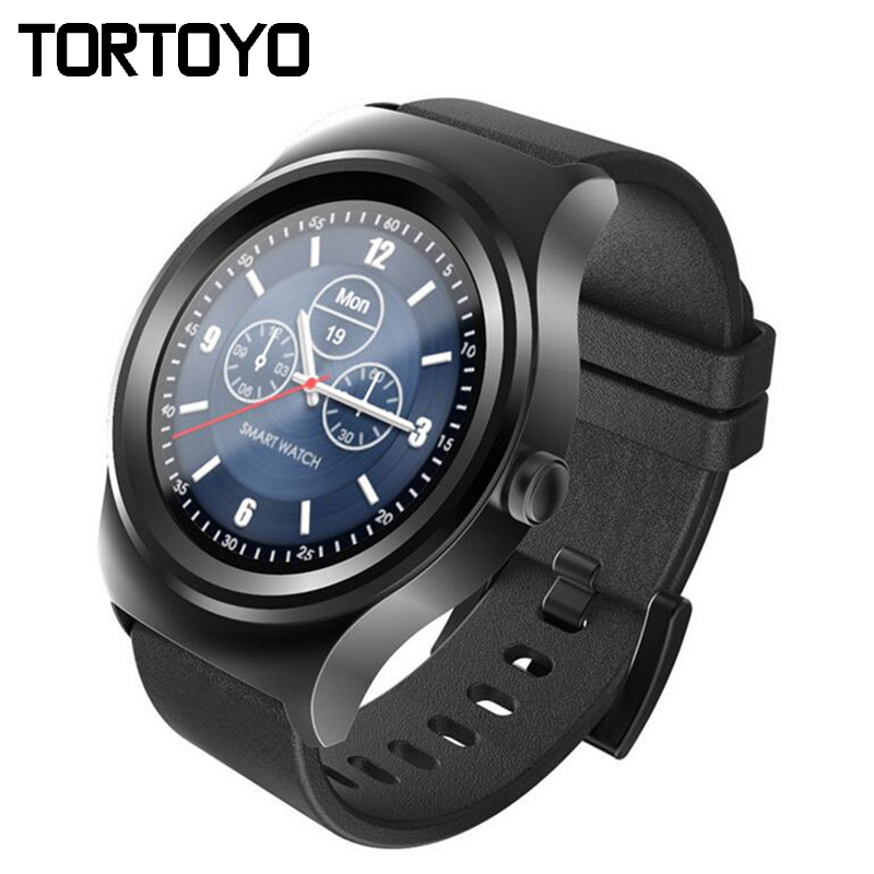 SMA R Bluetooth Full Round Smartwatch Sports Pedometer Heart Rate Monitor Leather Smart Watch Wristwatch Phone for iOS Android