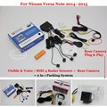 For Nissan Versa Note 2014 2015 - Car Parking Sensors + Rear View Camera = 2 in 1 Visual / BIBI Alarm Parking System