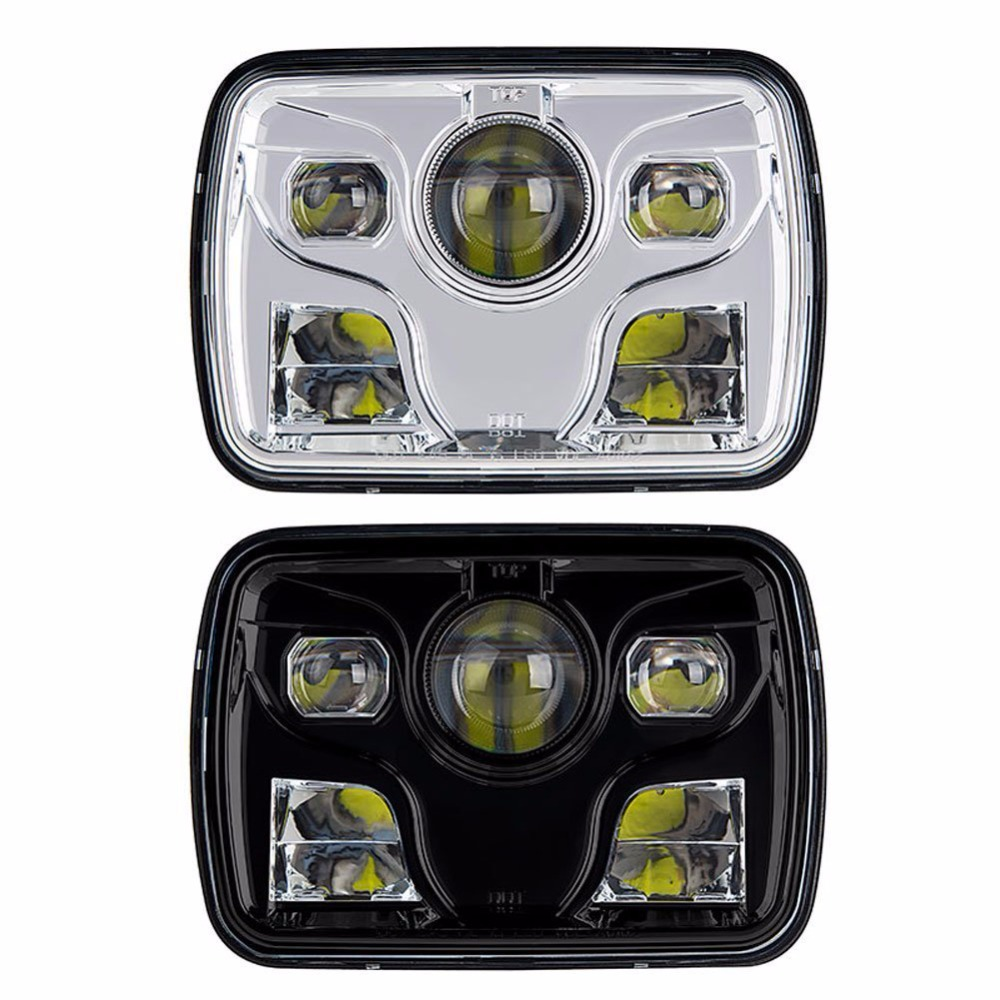 New Products! 5x7'' square Led head Light for Jeep,Truck Tank Heavy-duty Vehicles, motorcycle with low/ high beam led headlight new carburetor fit for willys jeep solex design civilian l head t 069