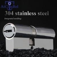 60mm Super C Grade stainless steel Anti theft door Lock Core Security Lock Cylinders Key Door Cylinder Lock 8 keys