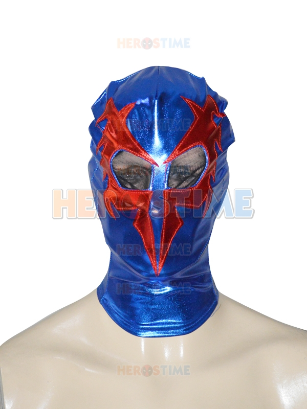 Spider-man 2099 Shiny Metallic Superhero Hood Spiderman Mask, Please leave us your Head Size when place the order