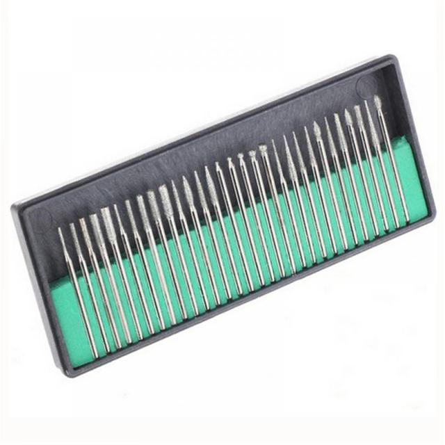 30 шт. 3 мм набор сверл для ногтей насадки для педикюра для маникюрной машины стержень для подачи маникюра инструмент для дизайна ногтей дрель электрическая пилка для ногтей