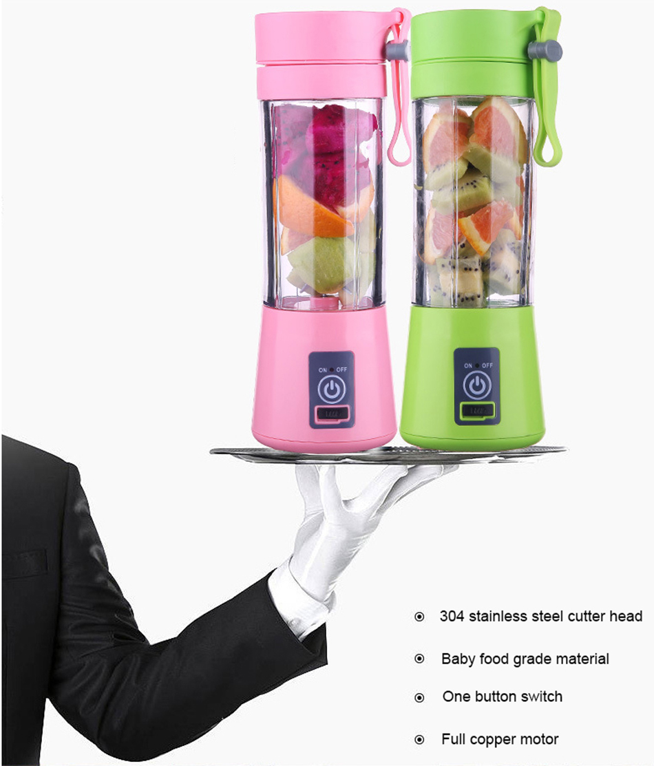 HTB1jBXAWXzqK1RjSZFoq6zfcXXae 380ml Portable Juice Blender USB Juicer Cup Multi-function Fruit Mixer Six Blade Mixing Machine Smoothies Baby Food dropshipping