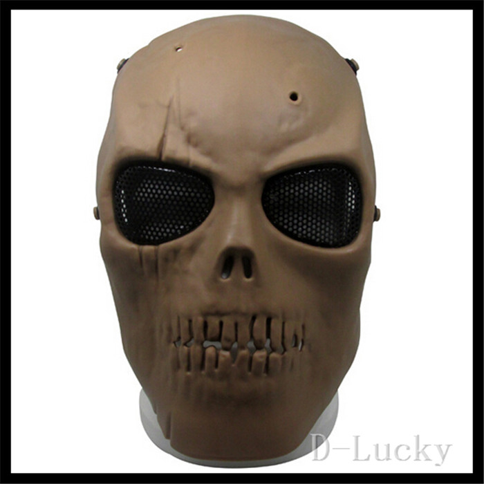 Halloween Party Cosplay Black Airsoft Paintball Tactical Full Face Protection Skull Mask CS War Game Mask Scary Skull Mask toy